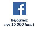 Rejoignez nos 15000 fans !
