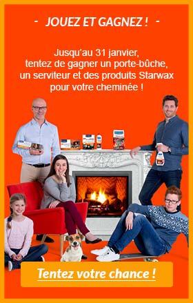 JOUEZ ET GAGNEZ ! Tentez de gagner des produits pour votre cheminée...