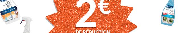 2€ de réduction
